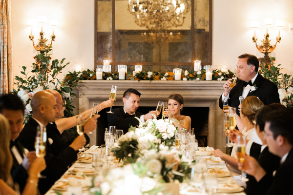 Bride and Groom at Head of Table