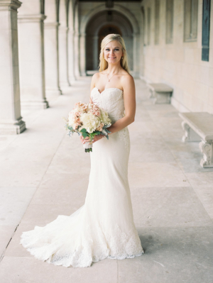 Bride in Anne Barge Gown
