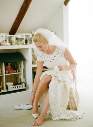 Bride in Badgley Mischka