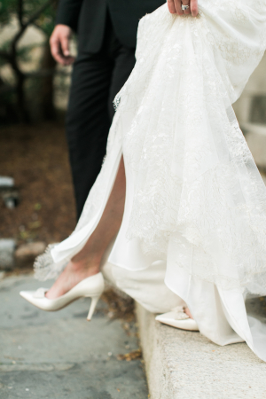 Bride in Kate Spade Shoes