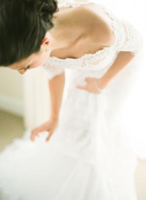 Bride in Marchesa
