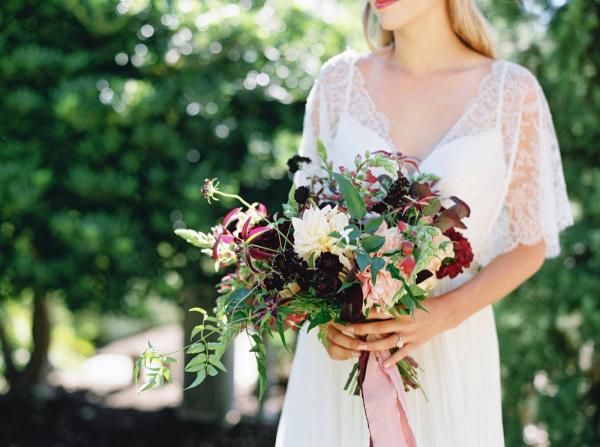 Bride with Autumn Bouquet