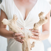 Bride with Driftwood