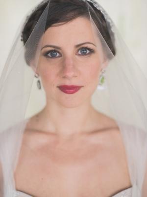 Bride with Garnet Lips