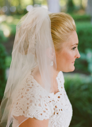 Bride with Shoulder Length Veil