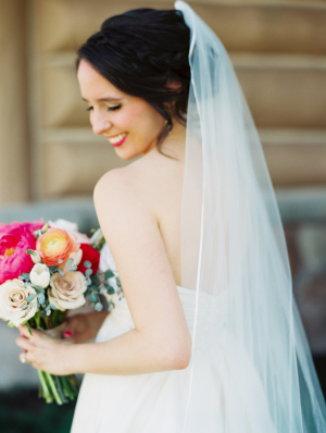 Bride with Veil and Updo
