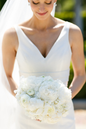 Bride with White Peony Bouquet