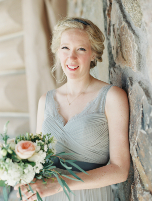 Bridesmaid in Pale Slate Blue