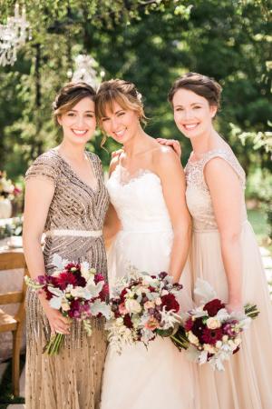 Bridesmaids in Blush
