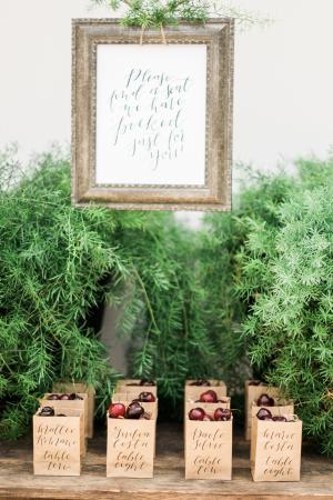 Calligraphy Fruit Wedding Favors