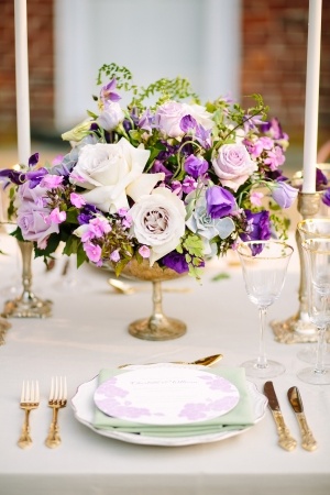 Centerpiece in Shades of Purple