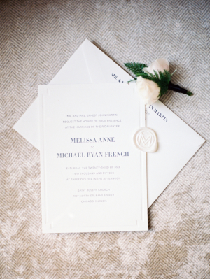 Classic Modern Wedding Invitations