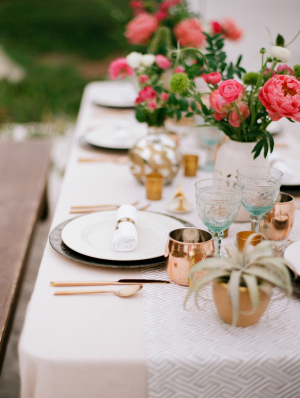 Copper Mint and Hot Pink Wedding Ideas