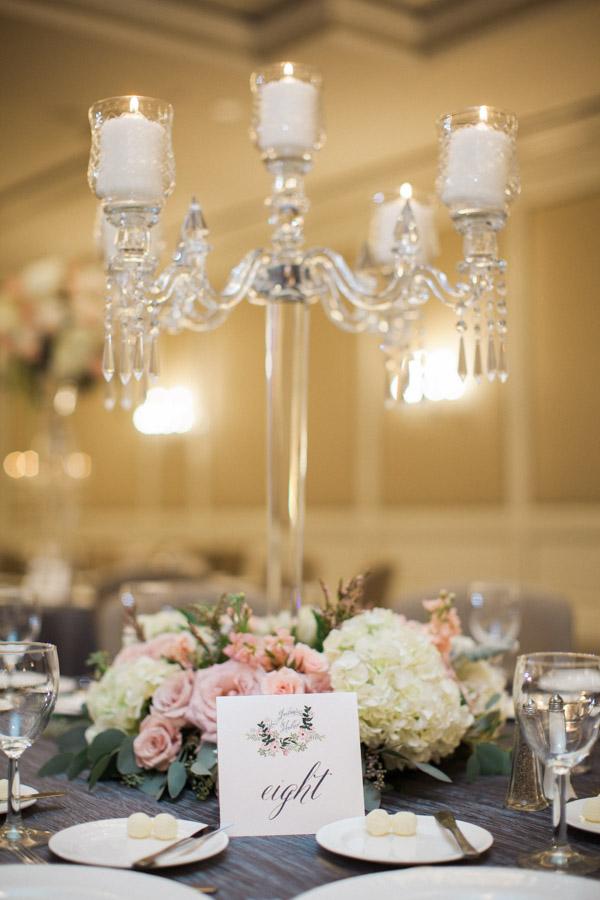 Crystal candelabra centerpiece elizabeth anne designs