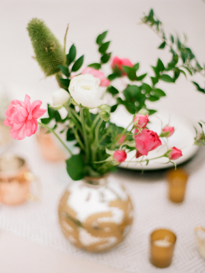 DIY Garden Rose Centerpiece