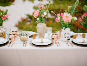 DIY Organic Beach Wedding Centerpiece