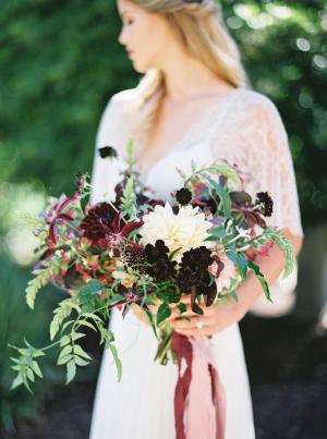 Dark Purple Wedding Bouquet