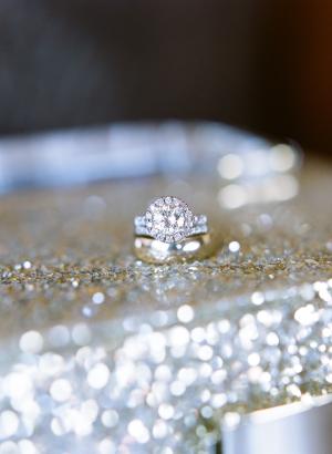 Diamond Ring on Glitter