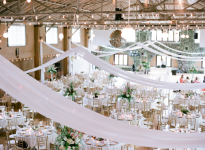 Drapes Swathed from Ceiling