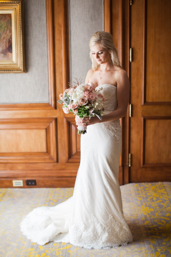 Elegant Anne Barge Wedding Dress