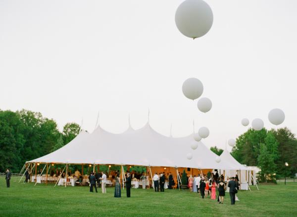 Elegant Backyard Tent Wedding