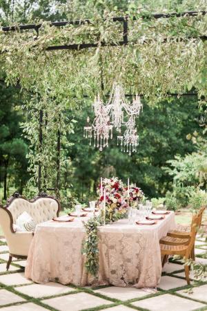 Elegant Champagne and Garnet Wedding