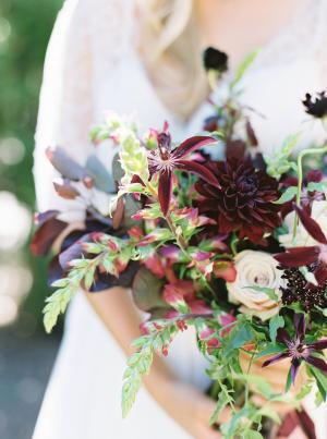 Elegant Dark Garnet Bouquet
