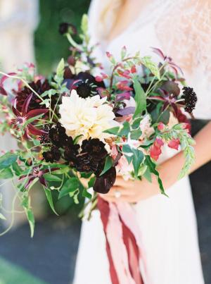 Elegant Dark Purple Bouquet