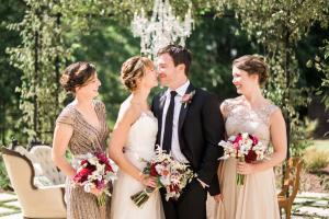 Elegant Garnet and Champagne Wedding Ideas 10