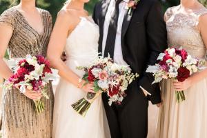 Elegant Garnet and Champagne Wedding Ideas 11