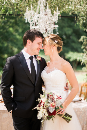 Elegant Garnet and Champagne Wedding Ideas 2