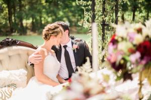 Elegant Garnet and Champagne Wedding Ideas 4