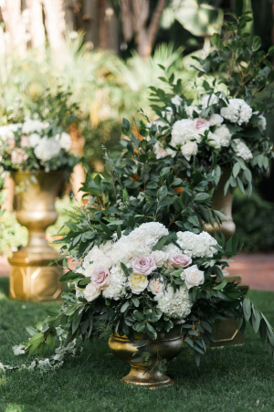 Elegant Wedding Ceremony Flowers
