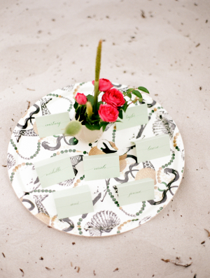Escort Cards in Kelly Green