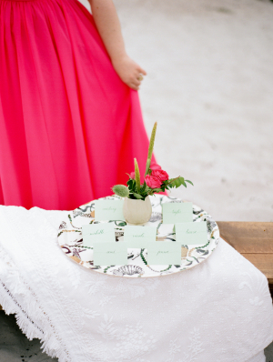 Escort Cards on Tray