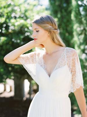 Flutter Sleeve Wedding Gown