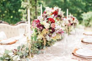 Garnet and Green Wedding Flowers