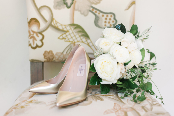Gold Valentino Shoes