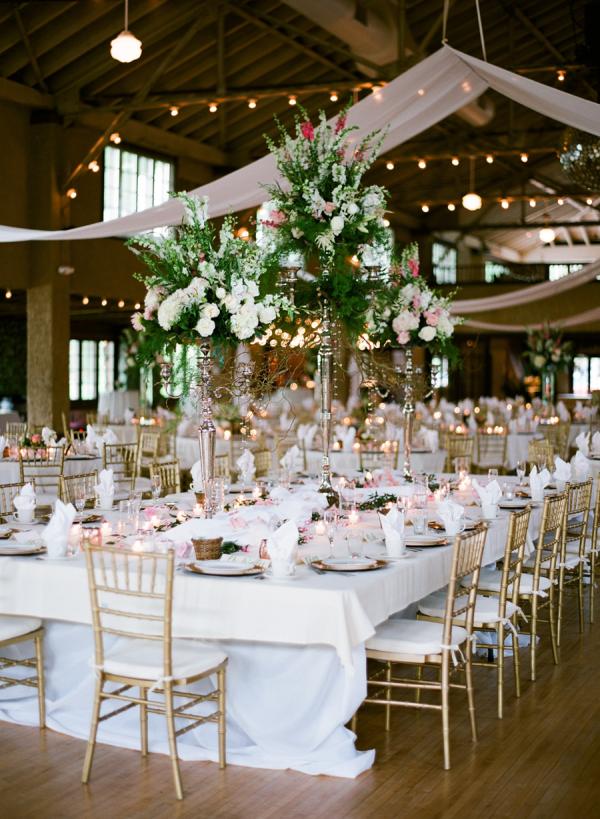 Gold White Green Wedding Reception Elizabeth Anne Designs The