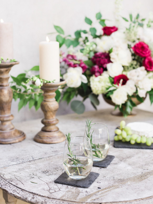 Gold and Garnet Wedding Inspiration
