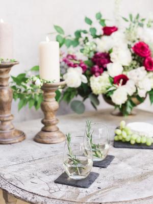 Gold and Garnet Wedding Inspiration