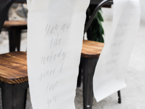 Gray Calligraphy Wedding Details