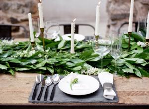 Green and Gray Wedding Table