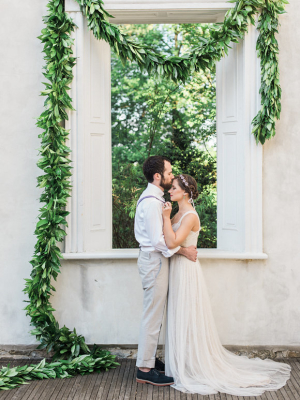 Greenery Garland Wedding Backdrop