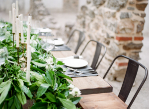 Industrial Chairs at Wedding Table