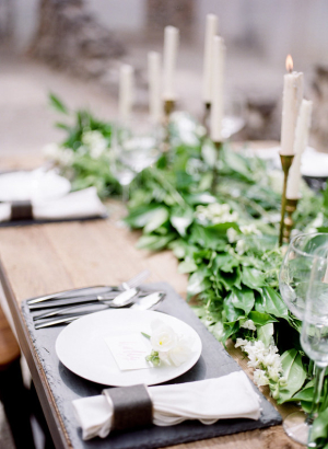 Industrial and Elegant Wedding Table