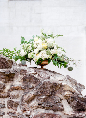 Ivory and Green Wedding Flowers