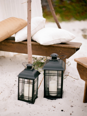 Lantern Beach Wedding Decor