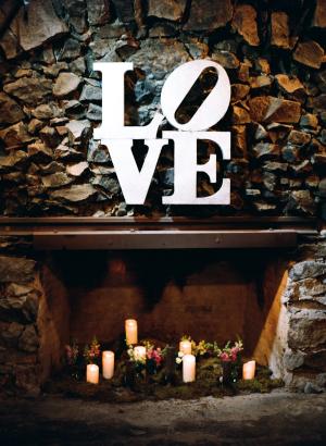 Love Sign at Wedding