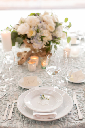 Pale Pastel Ocean Wedding Table